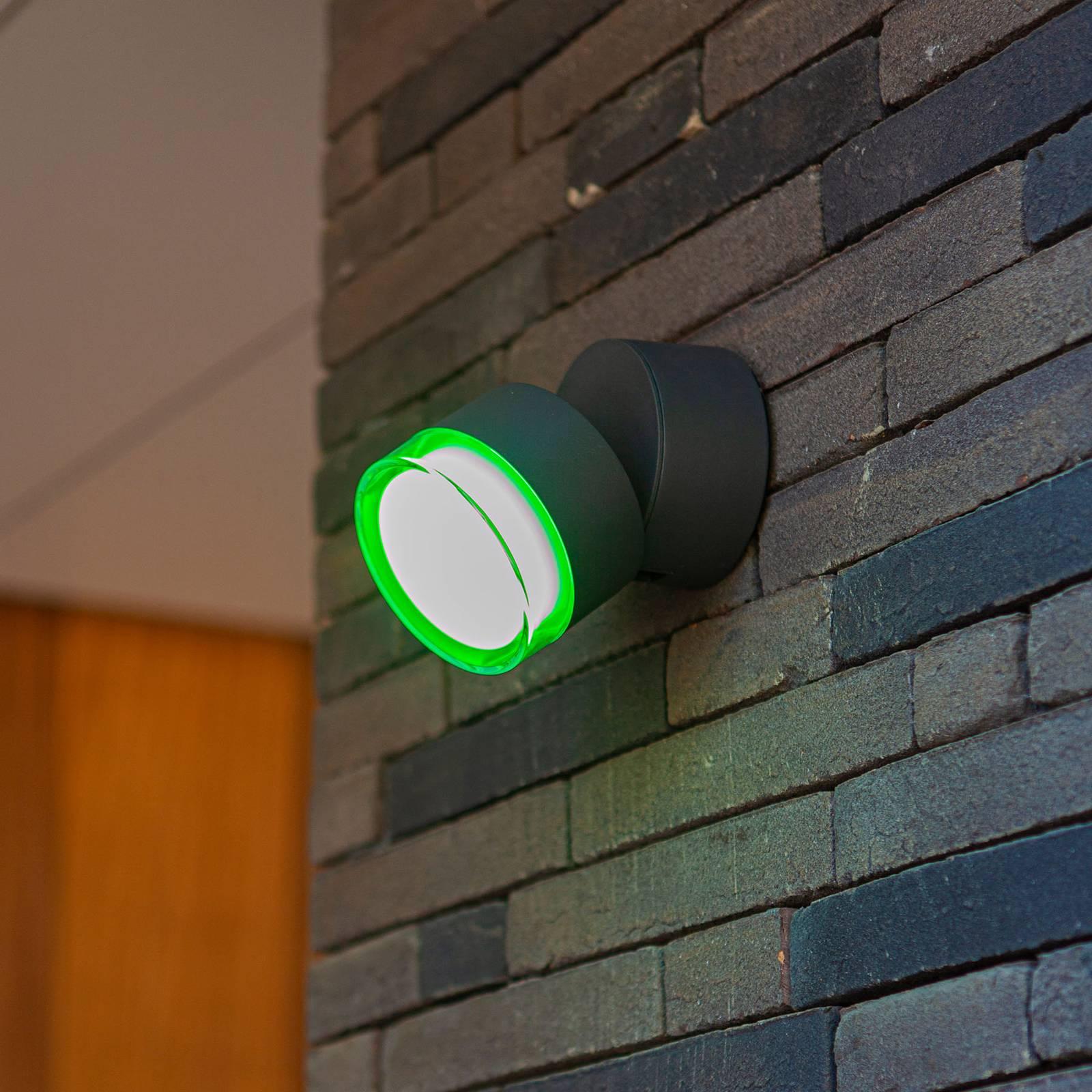 LED-Außenwandleuchte Dropsi, RGBW smart steuerbar