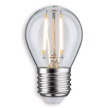 Bombilla gota LED E27 2,5W 827 transparente