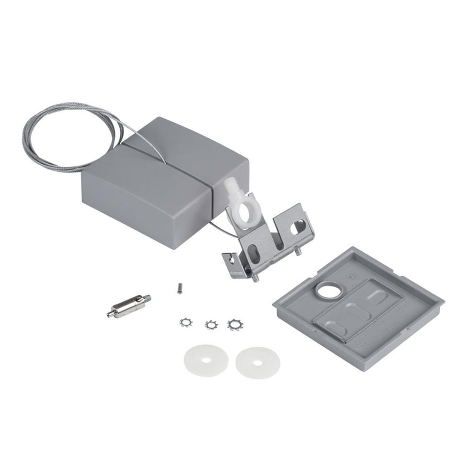 Siteco Vega 1taus-opphengssystem baldakin grå kant