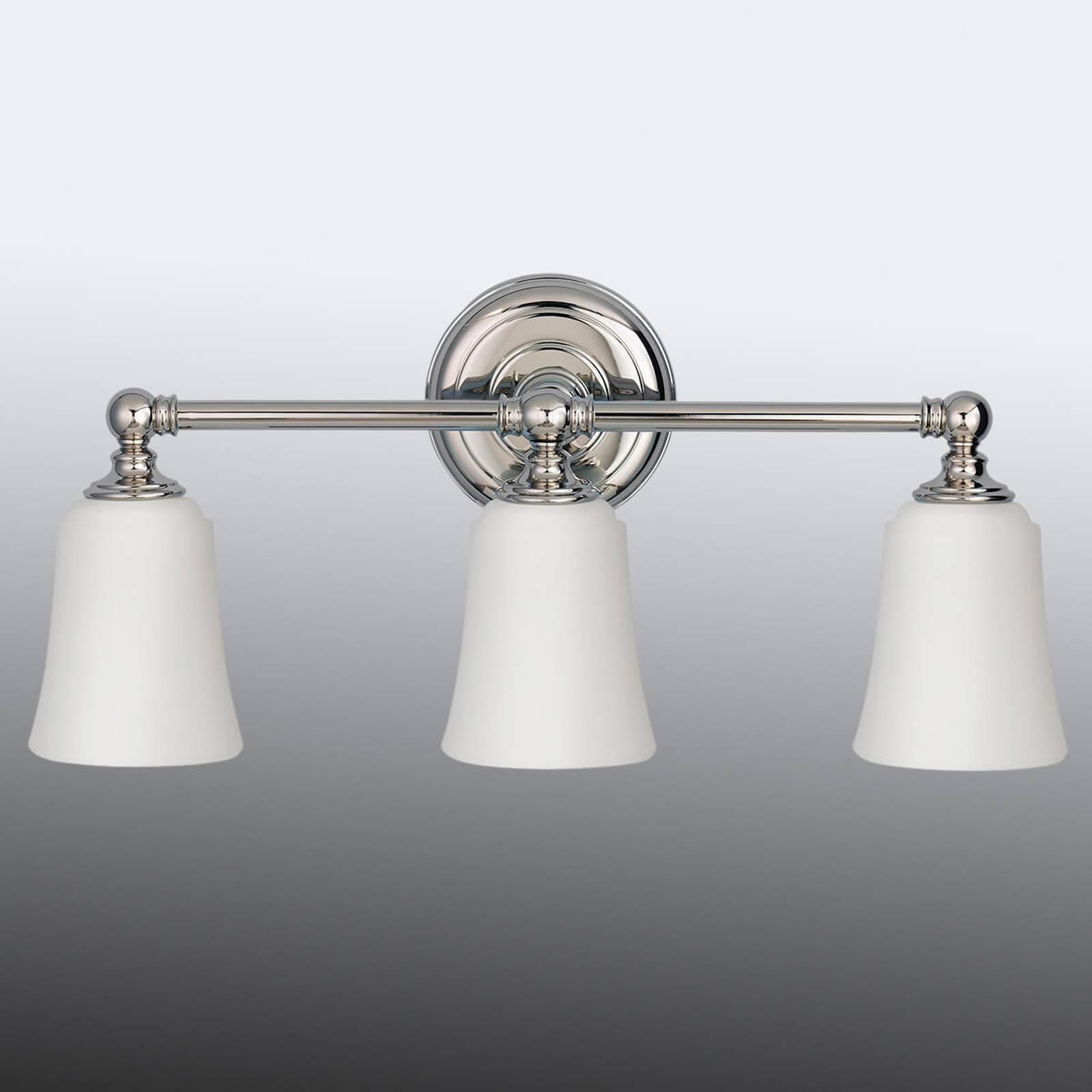 Applique salle de bain Huguenot Lake à 3 lampes