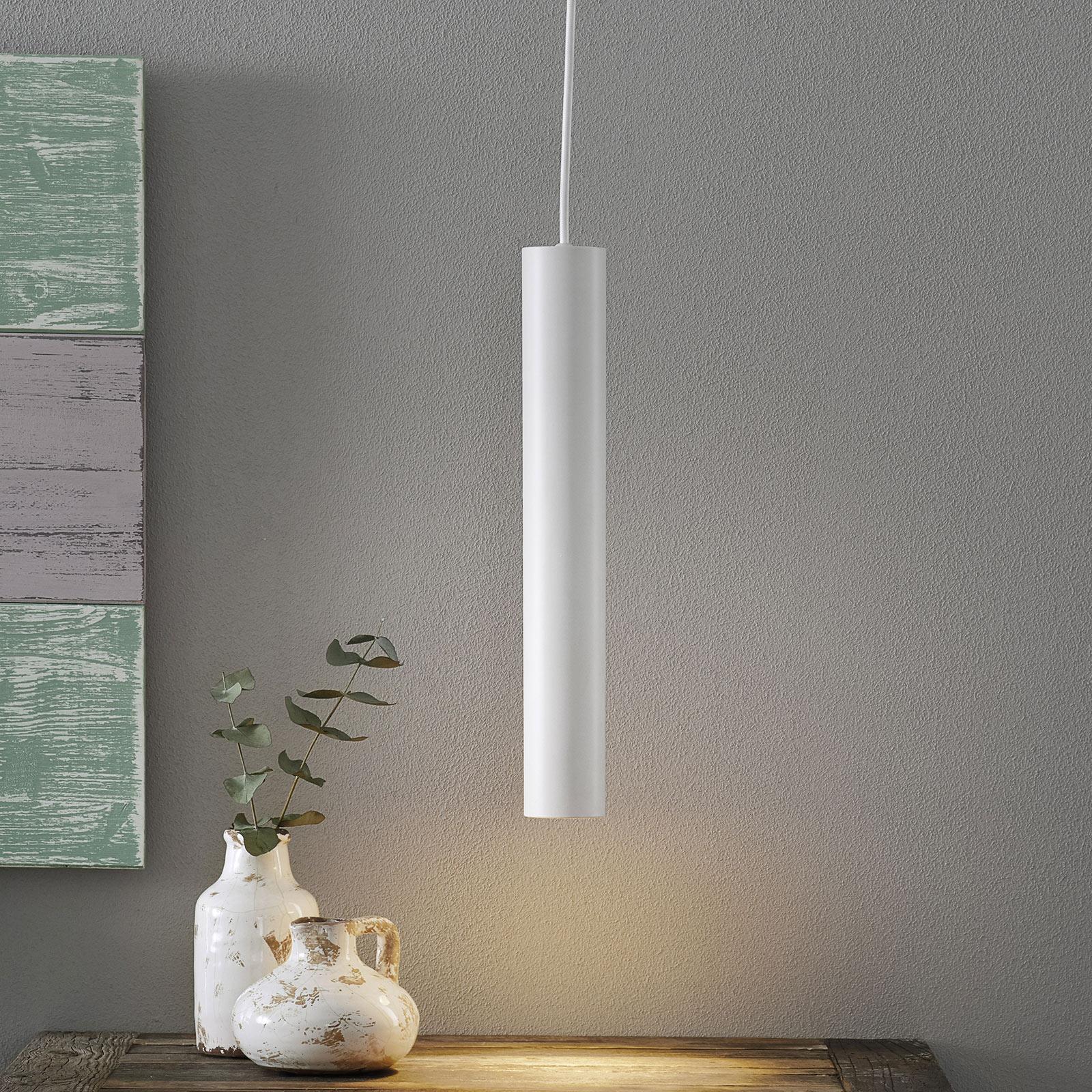 Lámpara colgante blanca Look con forma pequeña