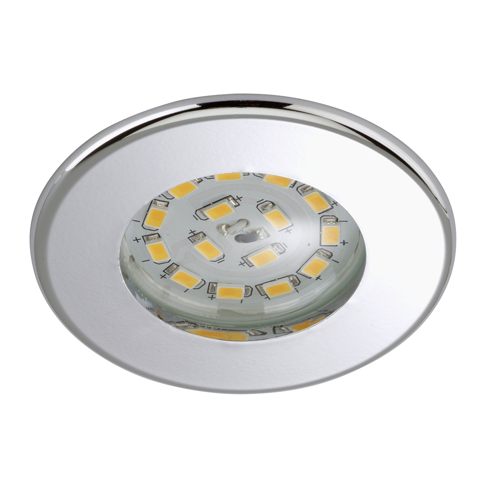 Effektiv LED-downlight Nikas IP44 krom