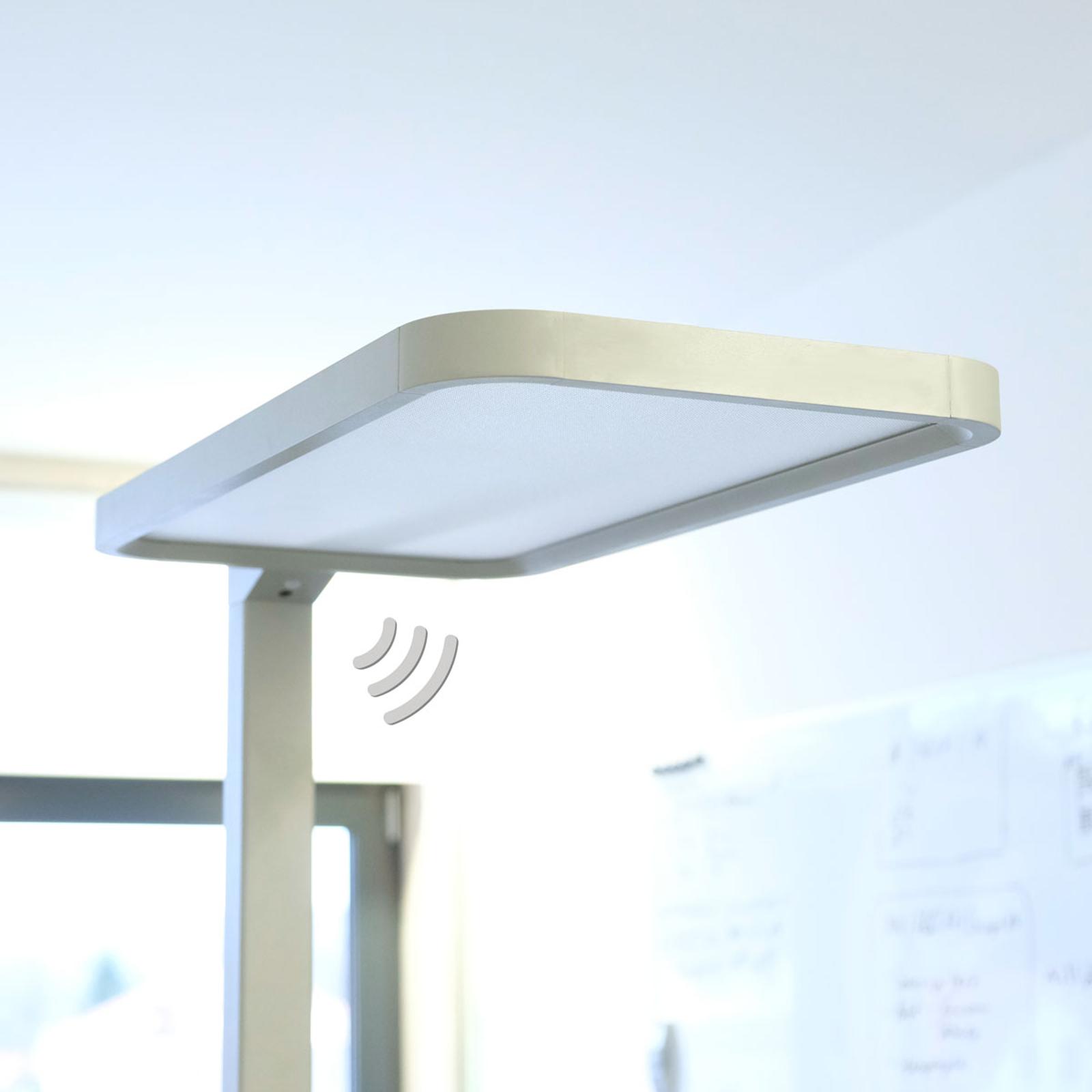 Büro-LED-Stehleuchte Matthis mit Dimmer u. Sensor