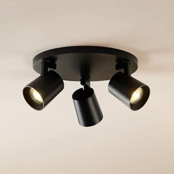 Arcchio Bilko stropní reflektor, 3 zdroje, černý