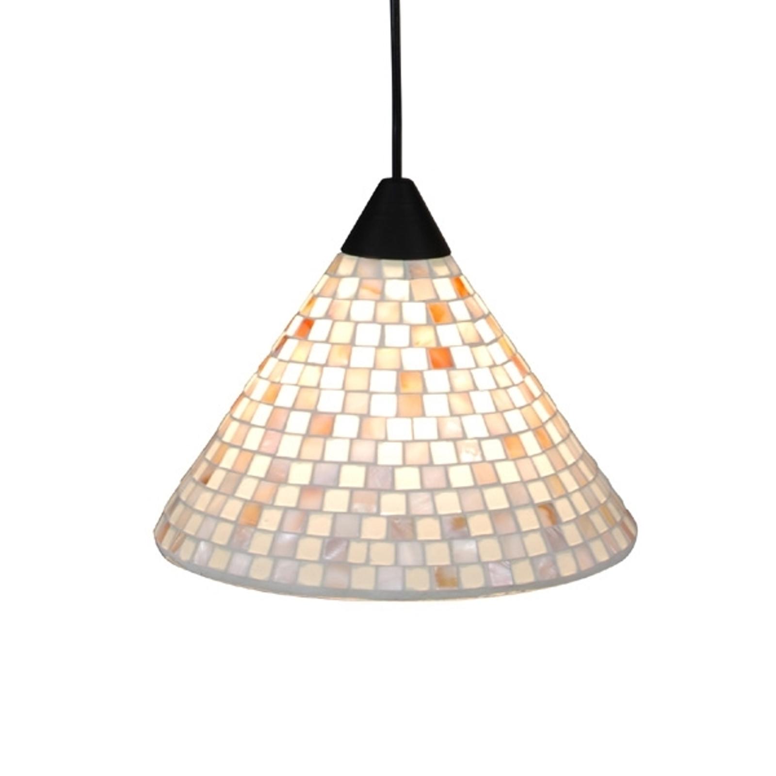 Lampa wisząca Yara z kloszem mozaikowym