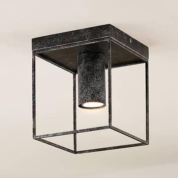 Lindby Disabio stropní světlo z kovu, rezavá