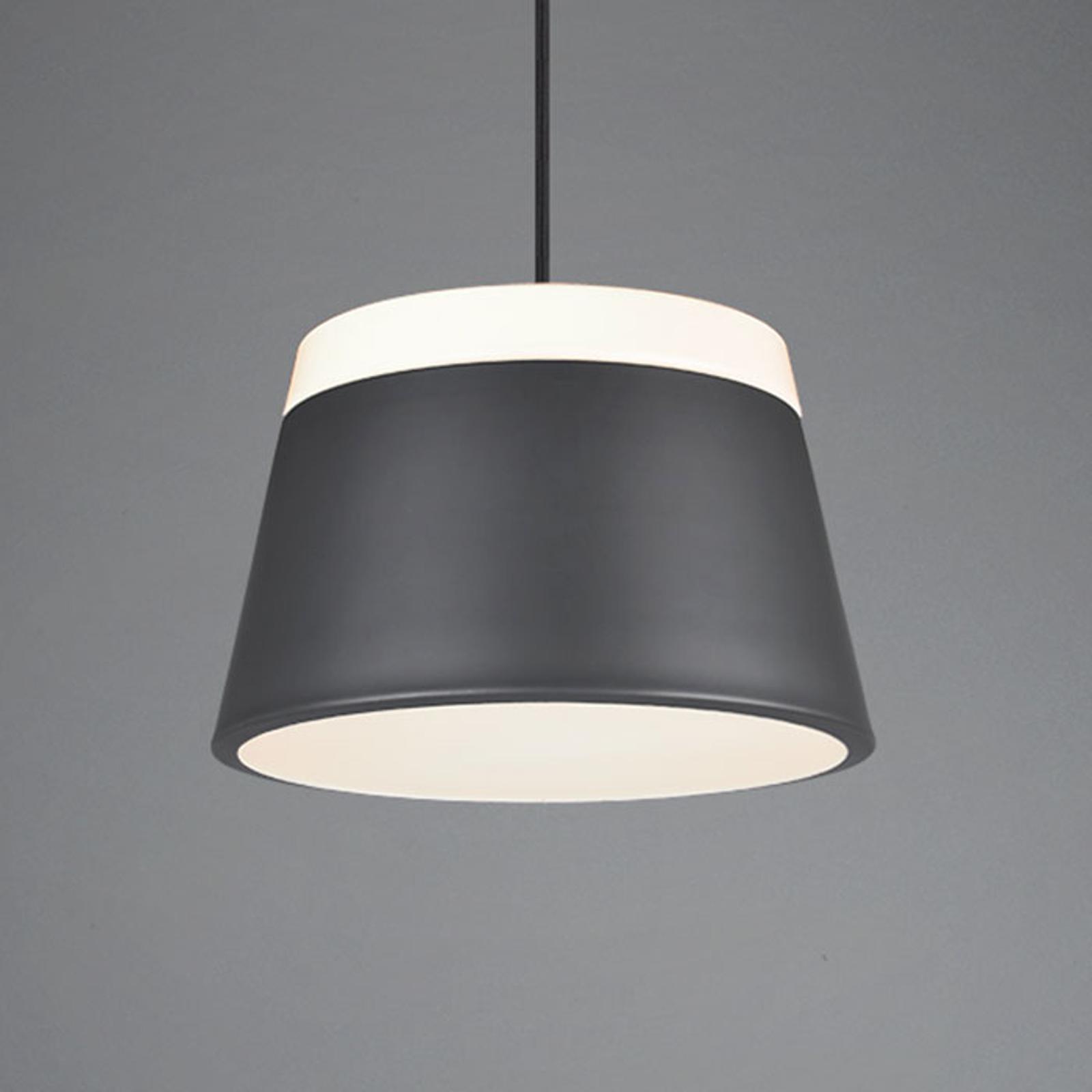 Lampa wisząca Baroness Ø 45 cm, antracyt