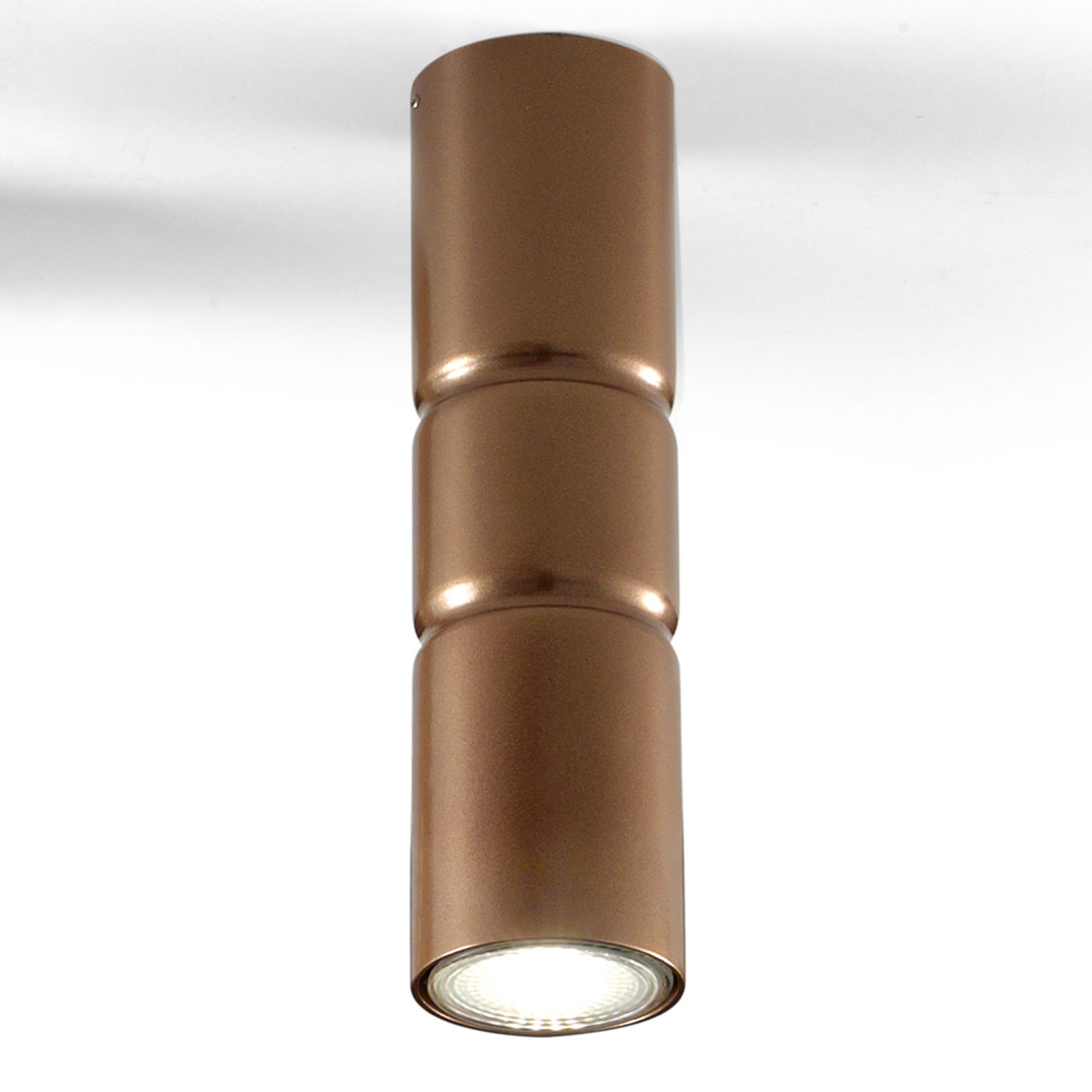 Lampa sufitowa Turbo, stała, brązowa