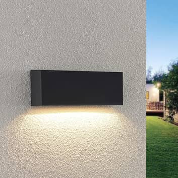 Lindby Jarte LED buiten wandlamp, 23,9 cm /down