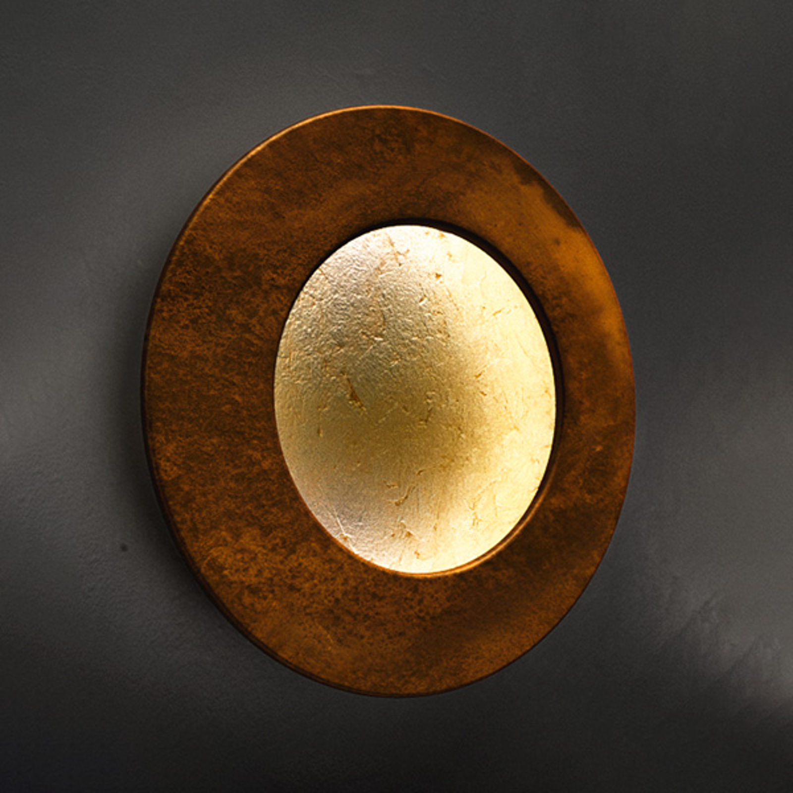 ICONE Vera 26 LED-Wandleuchte, gold/rost