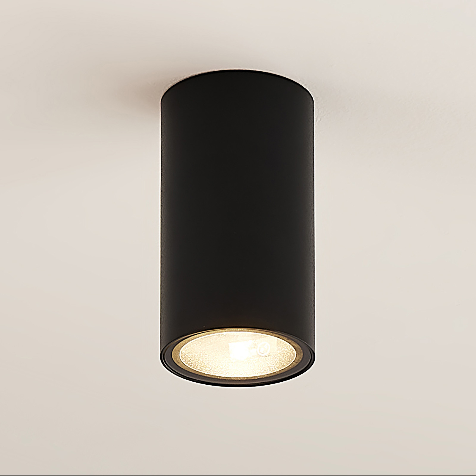 Arcchio Olivir downlight, rund, GU10, svart