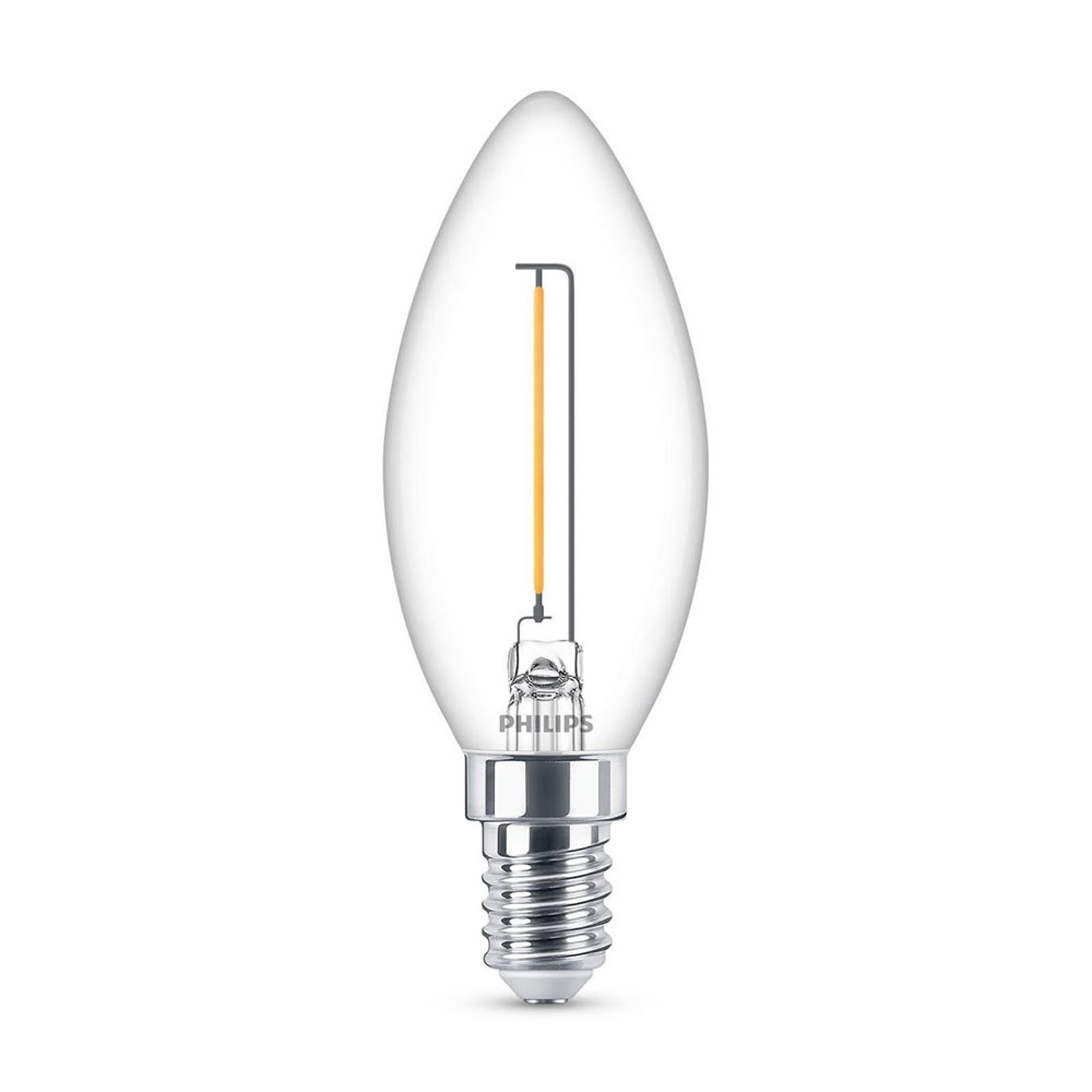 Philips LED-kertepære E14 B35 1,4W klar