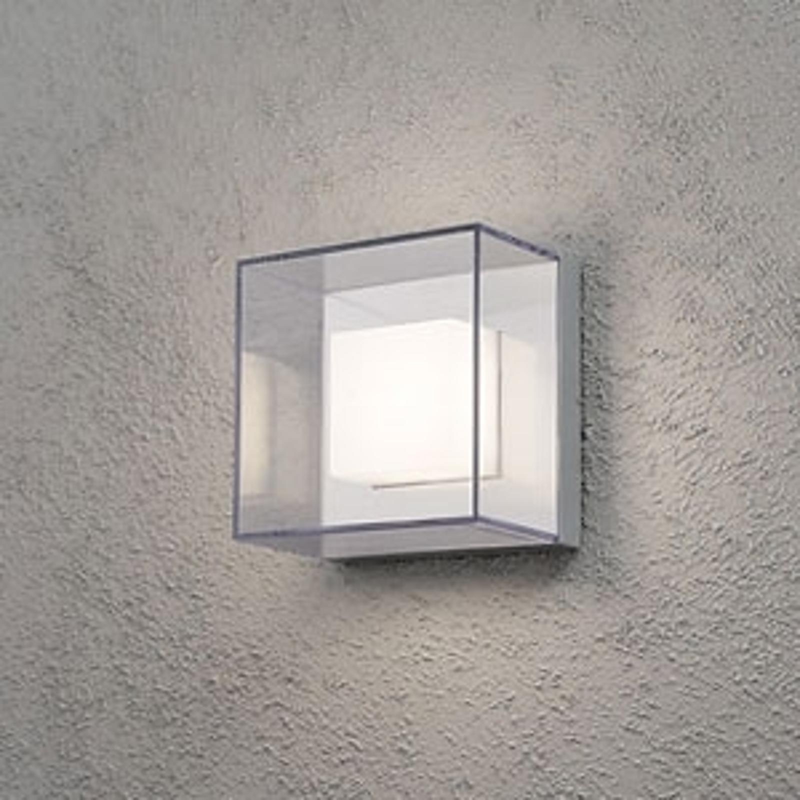 Kwadratowa zewnętrzna lampa ścienna LED Sanremo