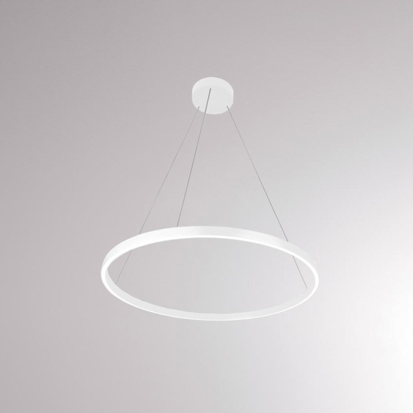 LOUM Perfora M LED-pendellampe, Ø 60 cm, hvid