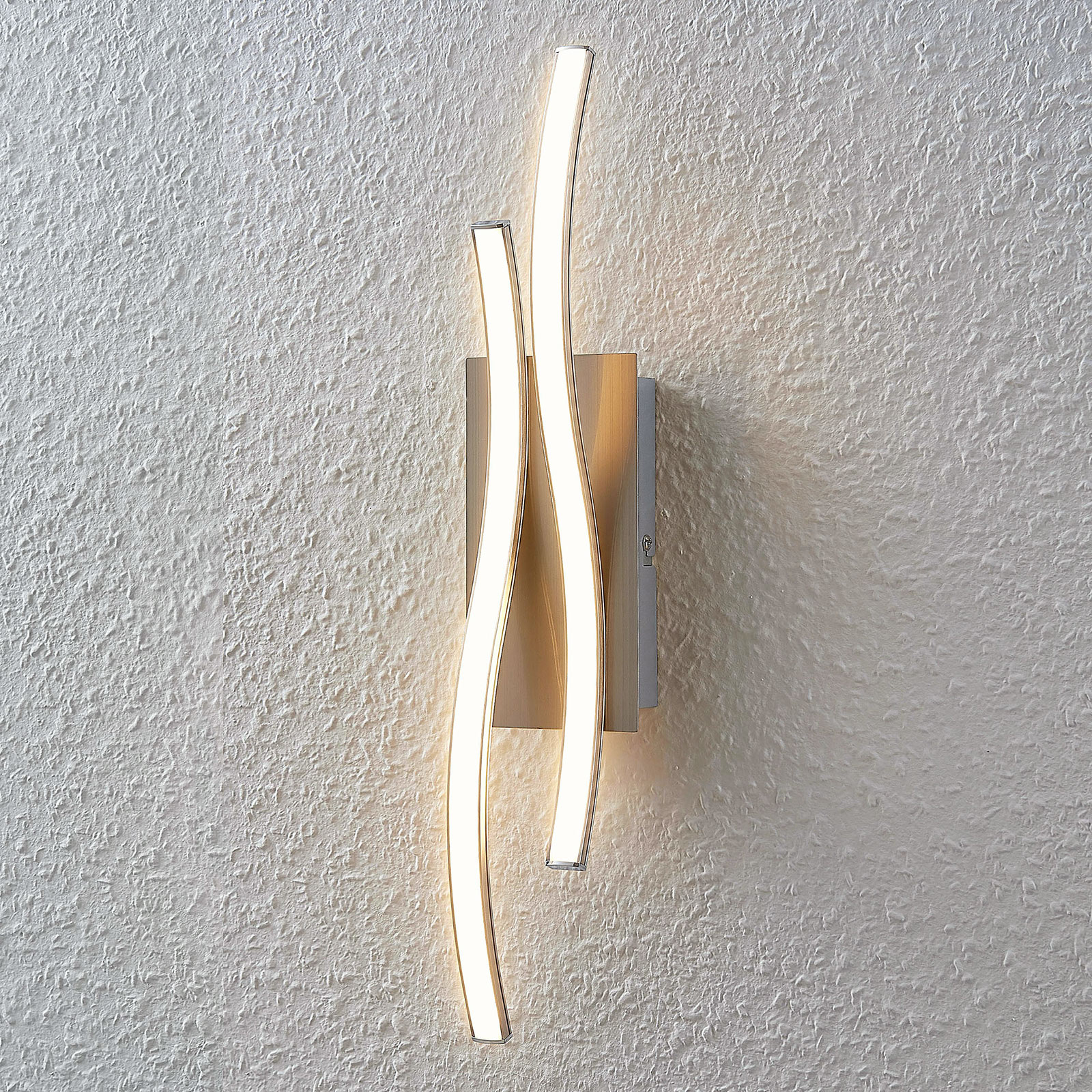 LED-Wandlampe Safia in Wellenform