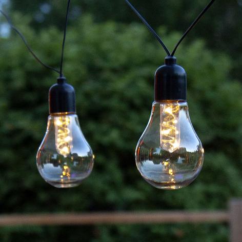 LED-lyslenke Glow, batteri, klar