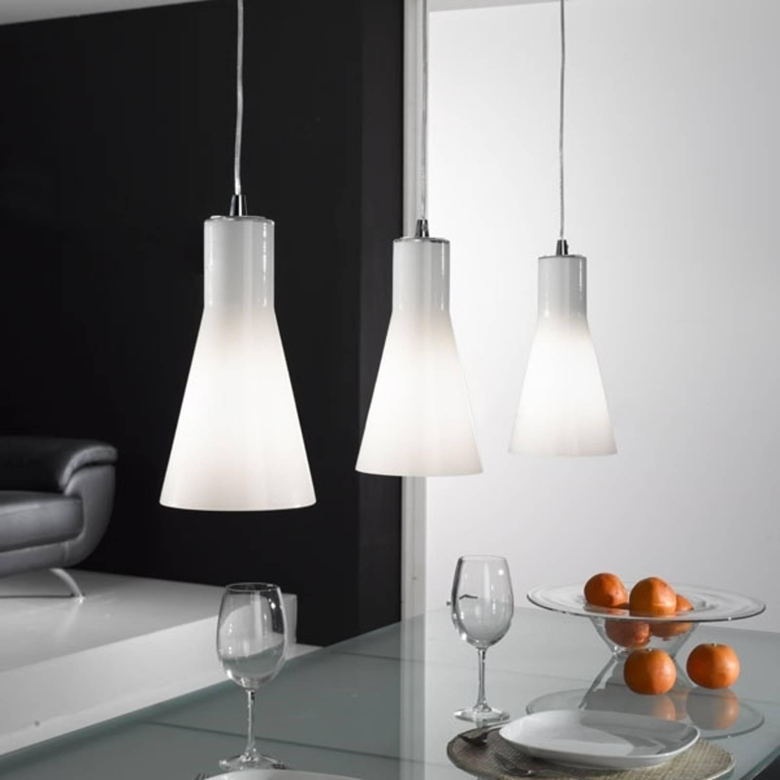 Hanglamp Dana van glas met 3 lampjes