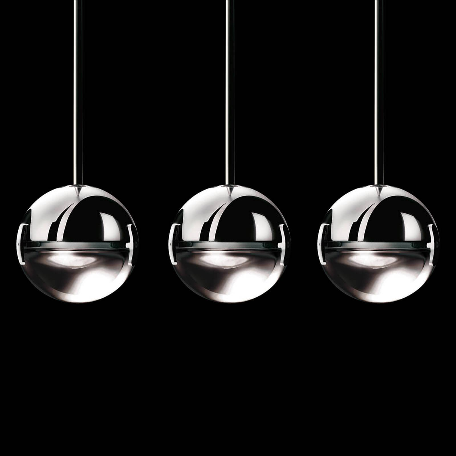 Suspension LED design Convivio, transparente
