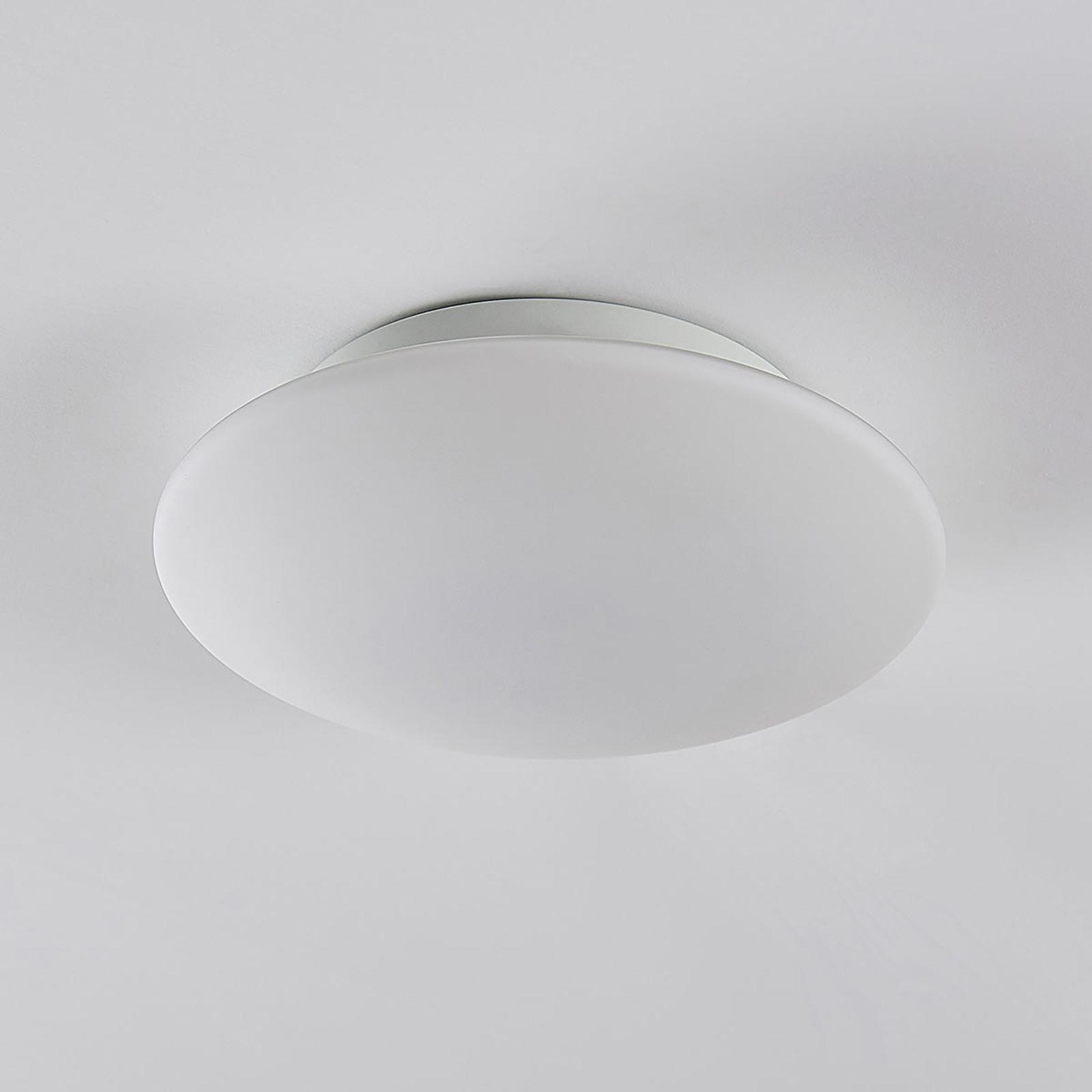 Runde Glas LED Deckenleuchte Toan, IP20 dimmbar
