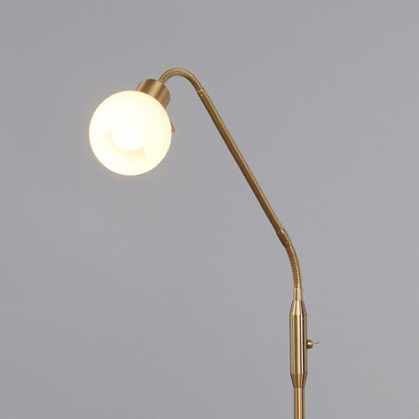 LED-Stehleuchte Elaina 1-flg., messing