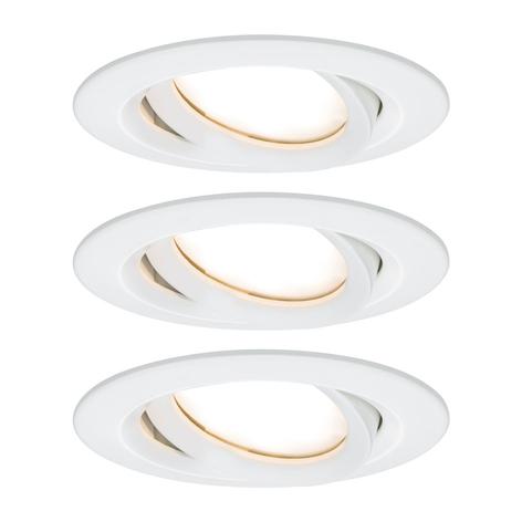 Paulmann Nova Plus LED-spot rond set van 3