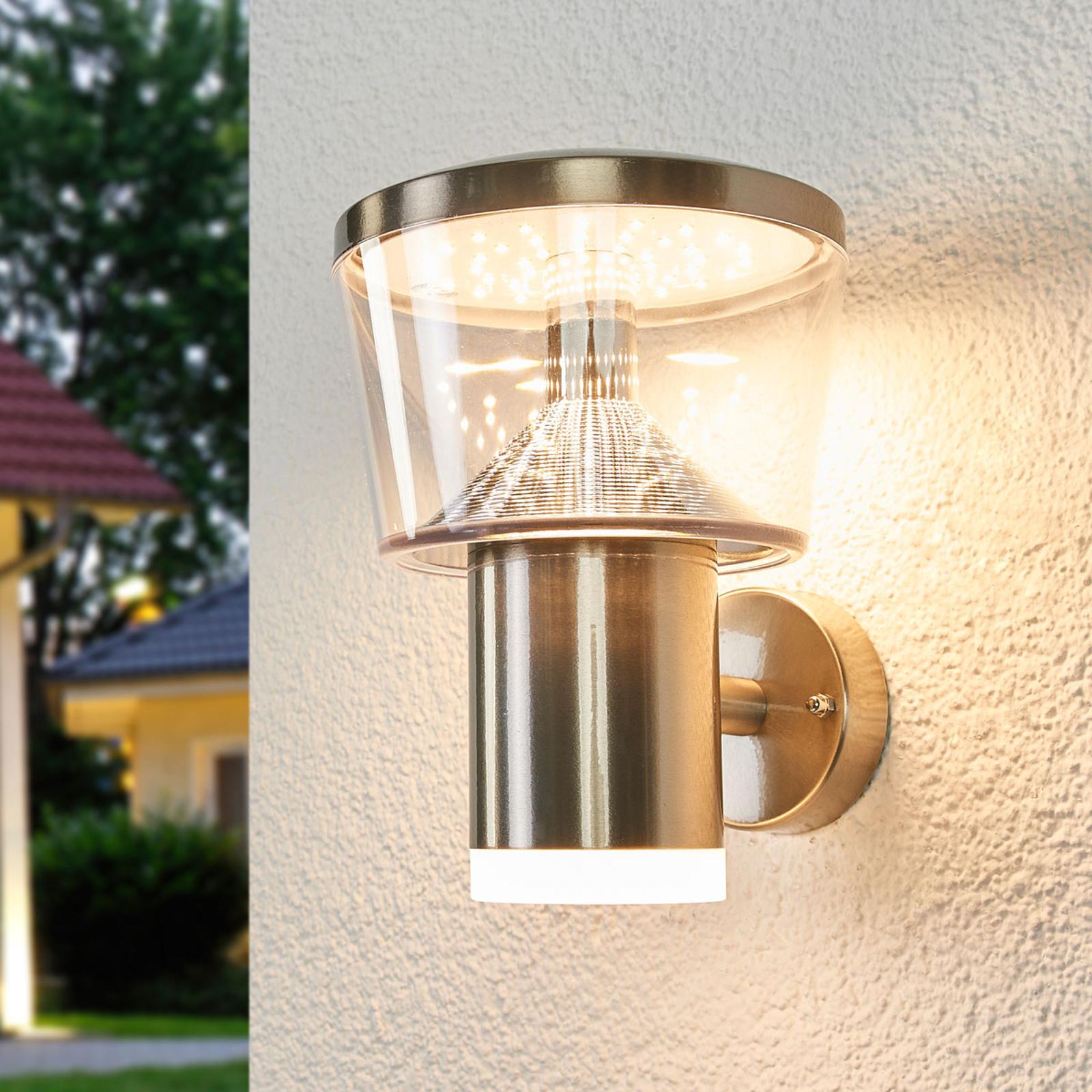Kinkiet zewnętrzny LED Antje ze stali szlachetnej