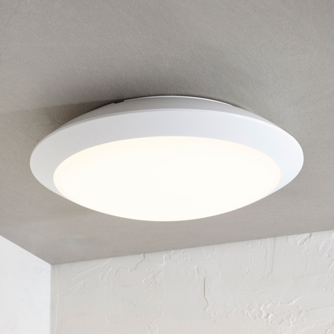 LED-utomhustaklampa Naira, vit, sensor