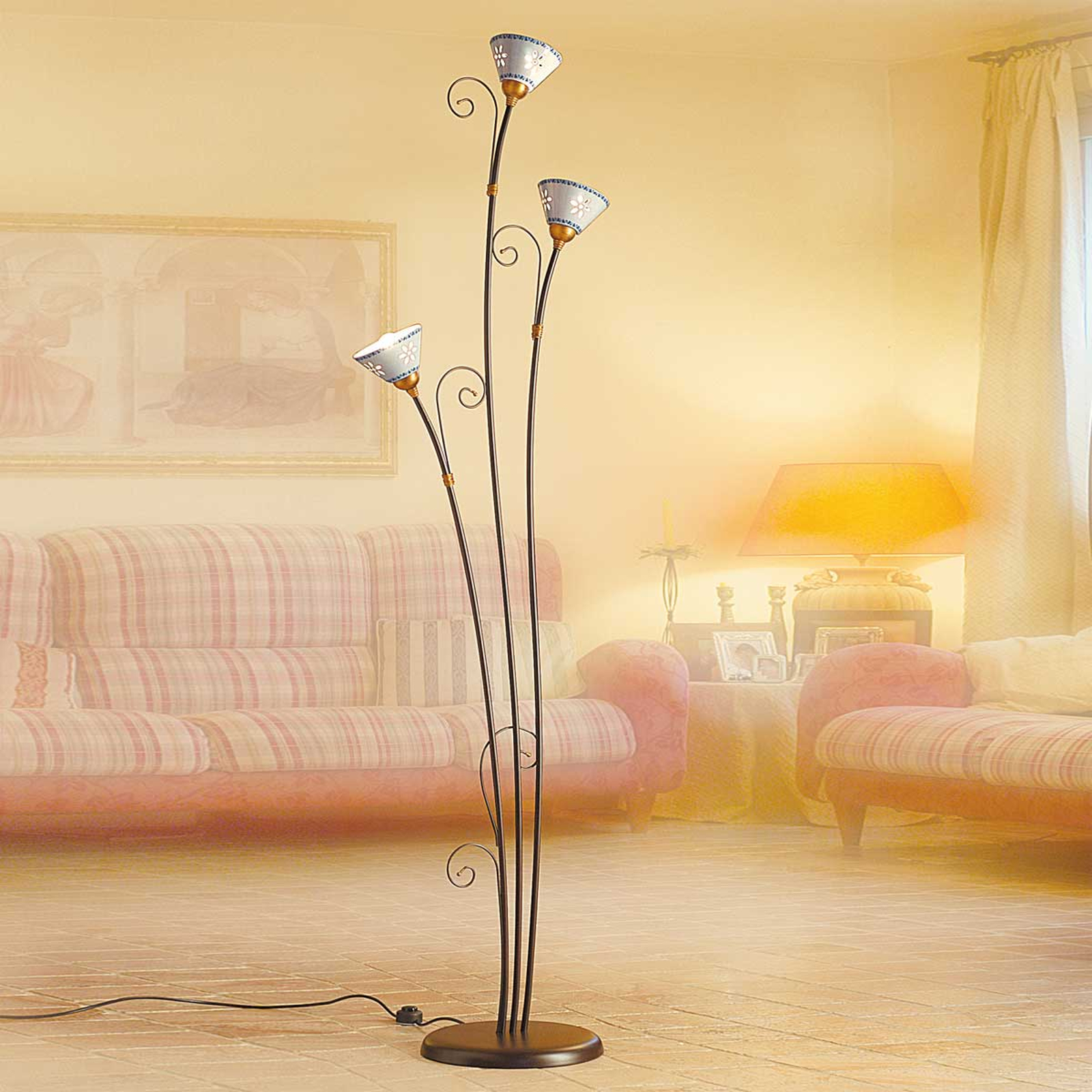 LIBERTY stålampe med tre lys