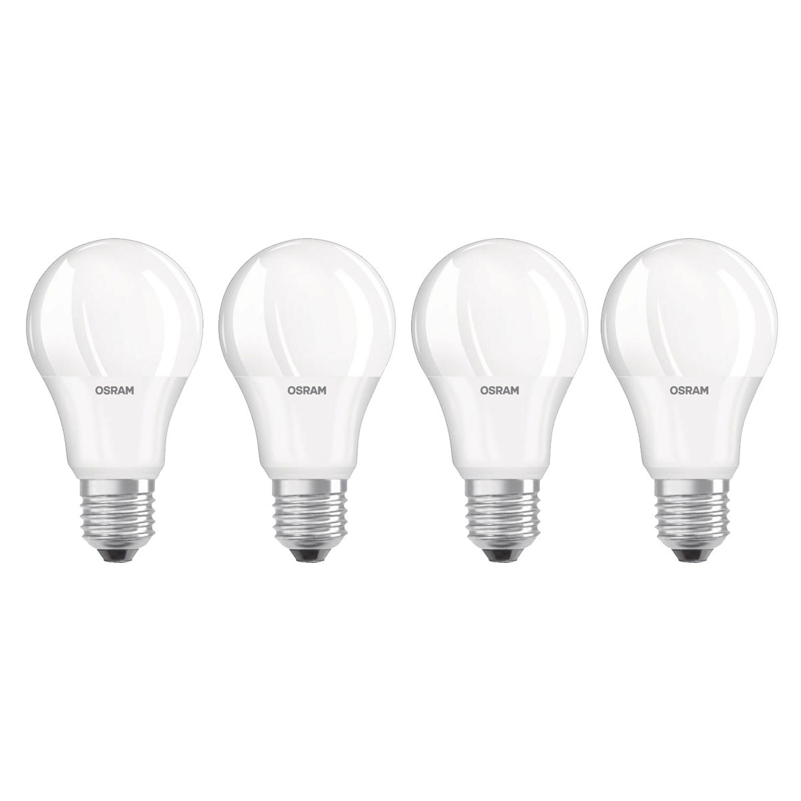 OSRAM LED-Lampe E27 Base Retro 9W matt 4er 2.700K