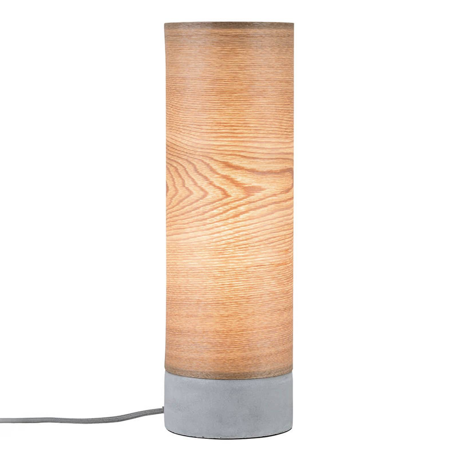Paulmann Skadi Tischleuchte mit Holz und Beton