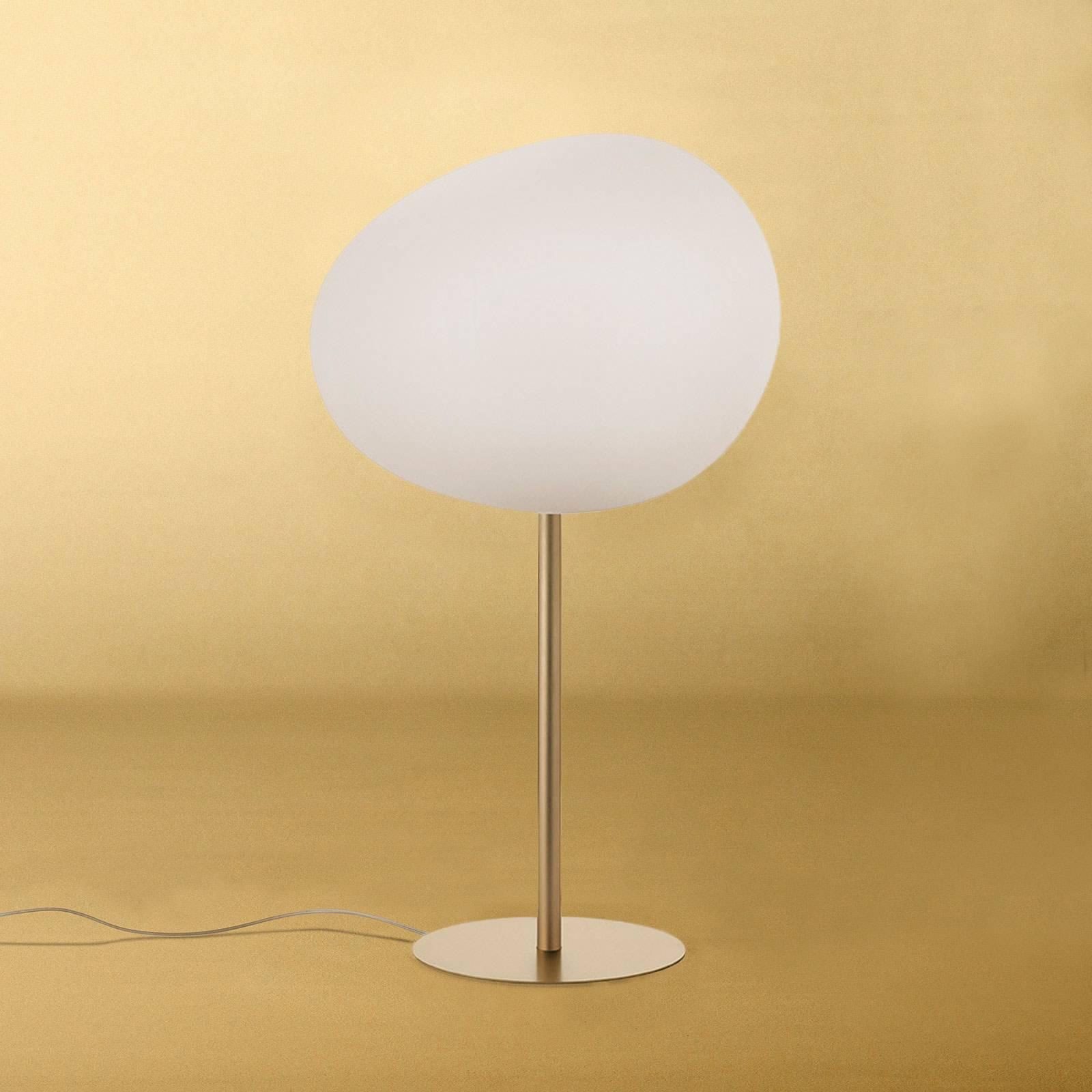 Foscarini Gregg grande alta lampada da tavolo, oro