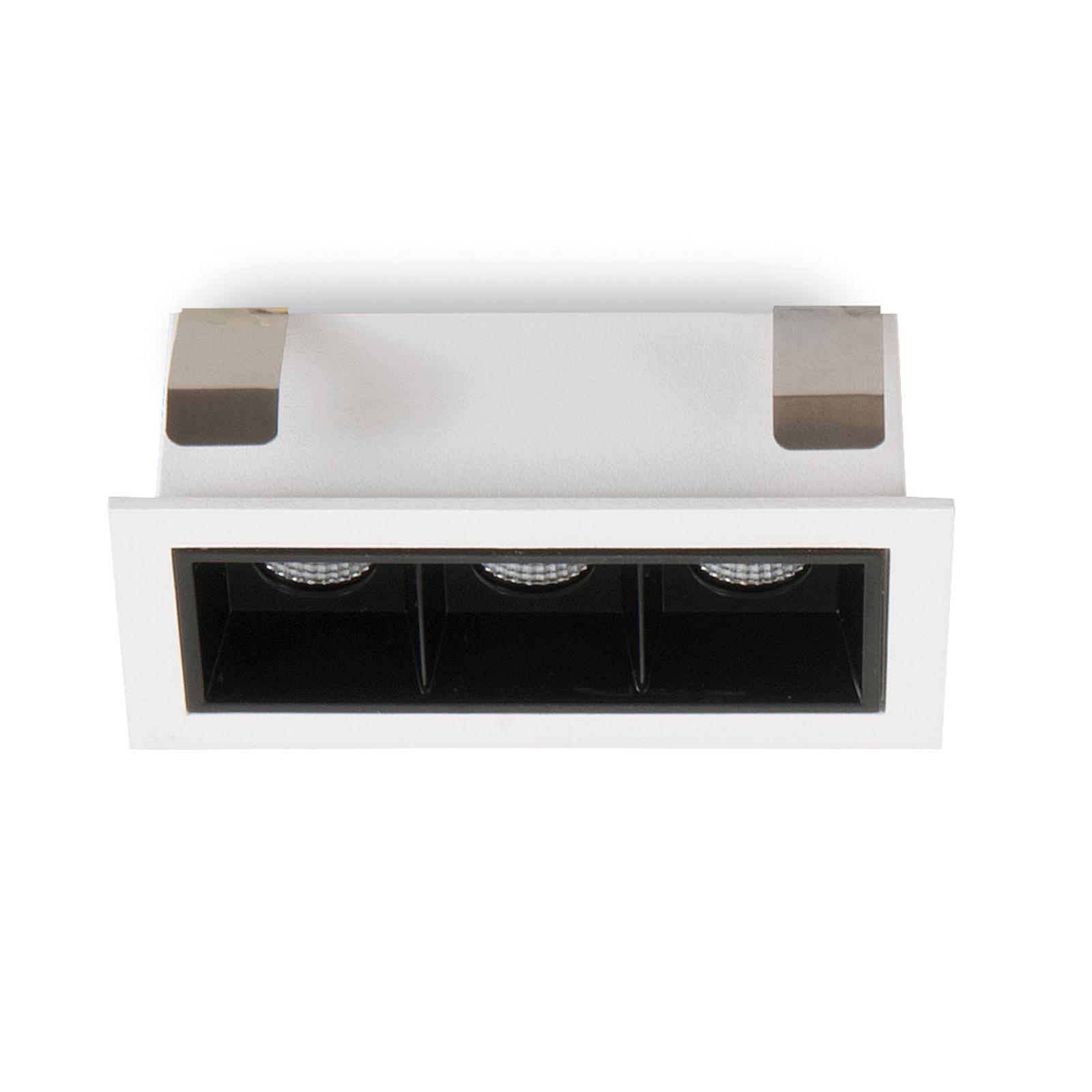 LED-Einbauspot Sound 3 30° mit Rahmen, weiß