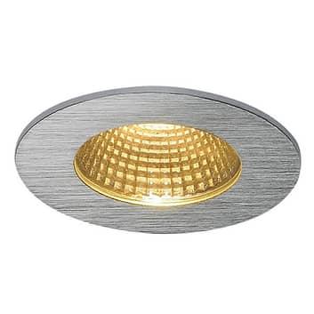 Aluminiumsfarvet LED loftindbygningslampe Patta-I