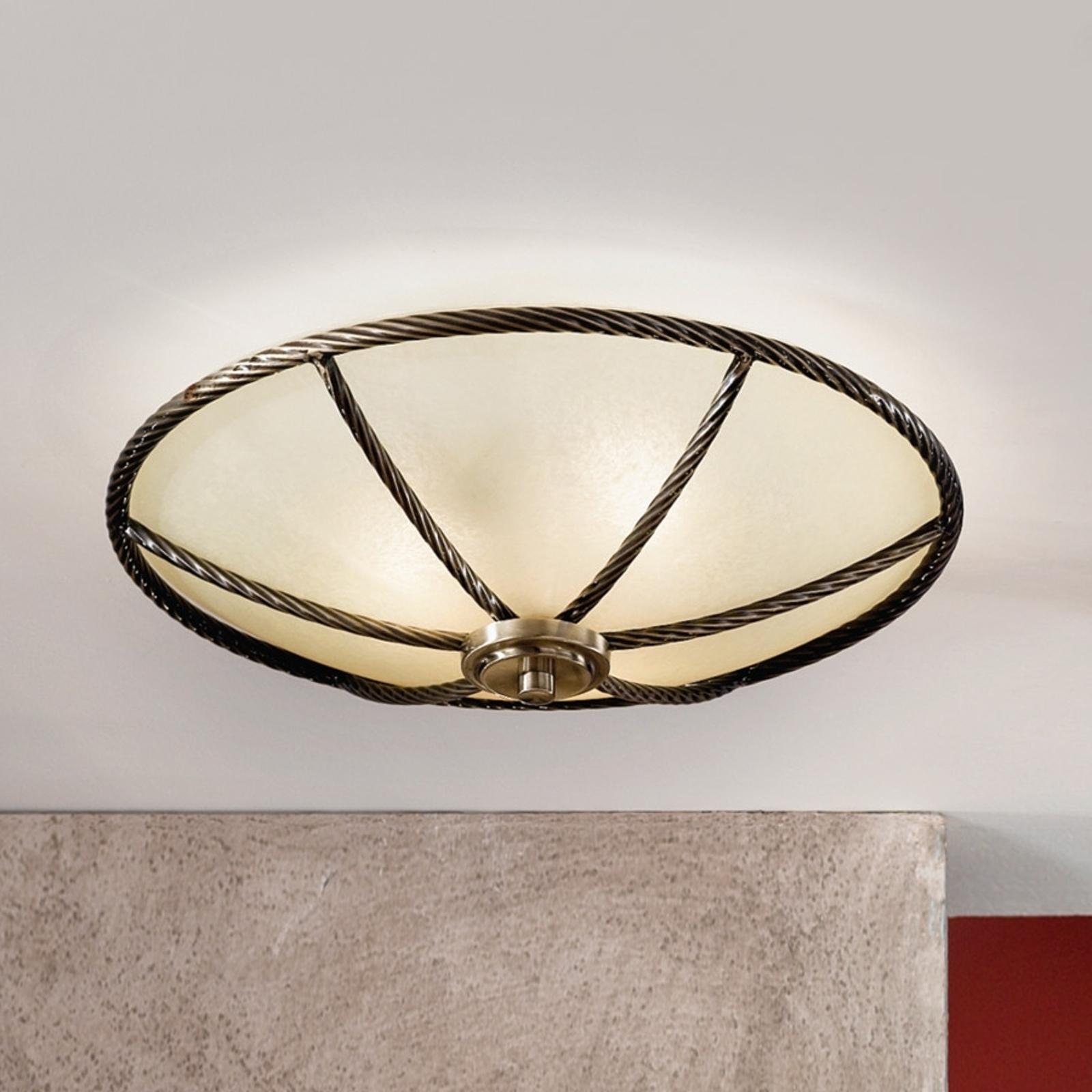 Champagnekleurige plafondlamp Galina, 42 cm