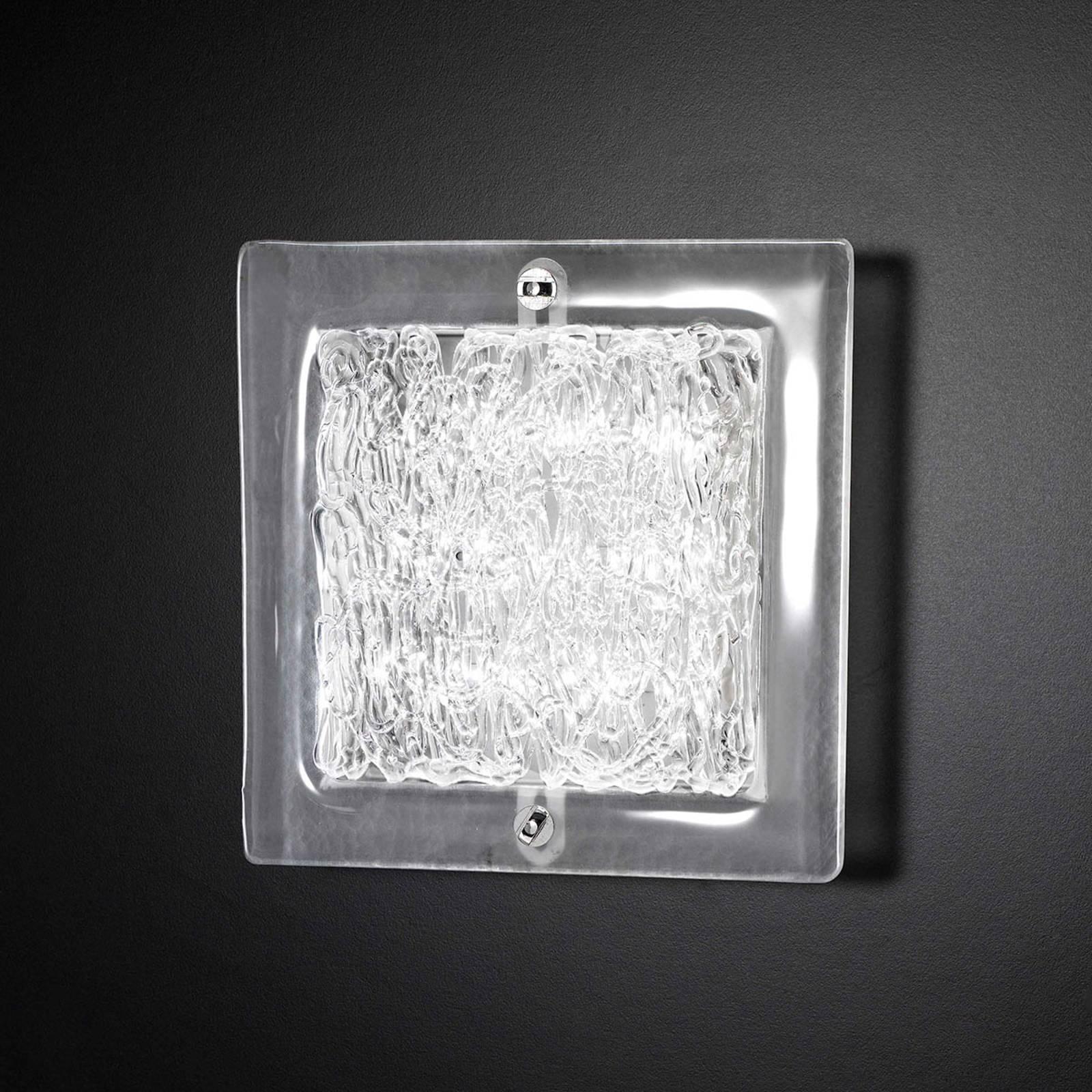 Glas-Wandleuchte Mary 20x20 cm