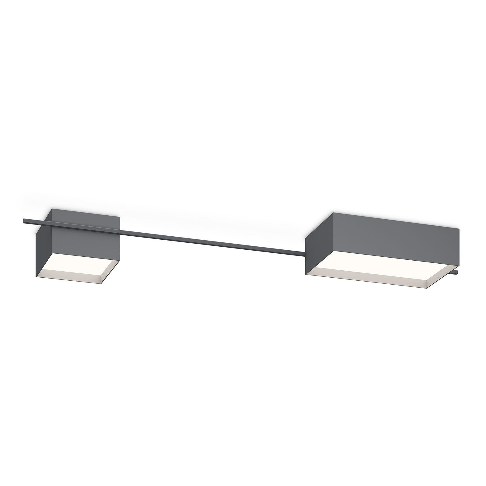 Vibia Structural 2642 plafondlamp, donkergrijs