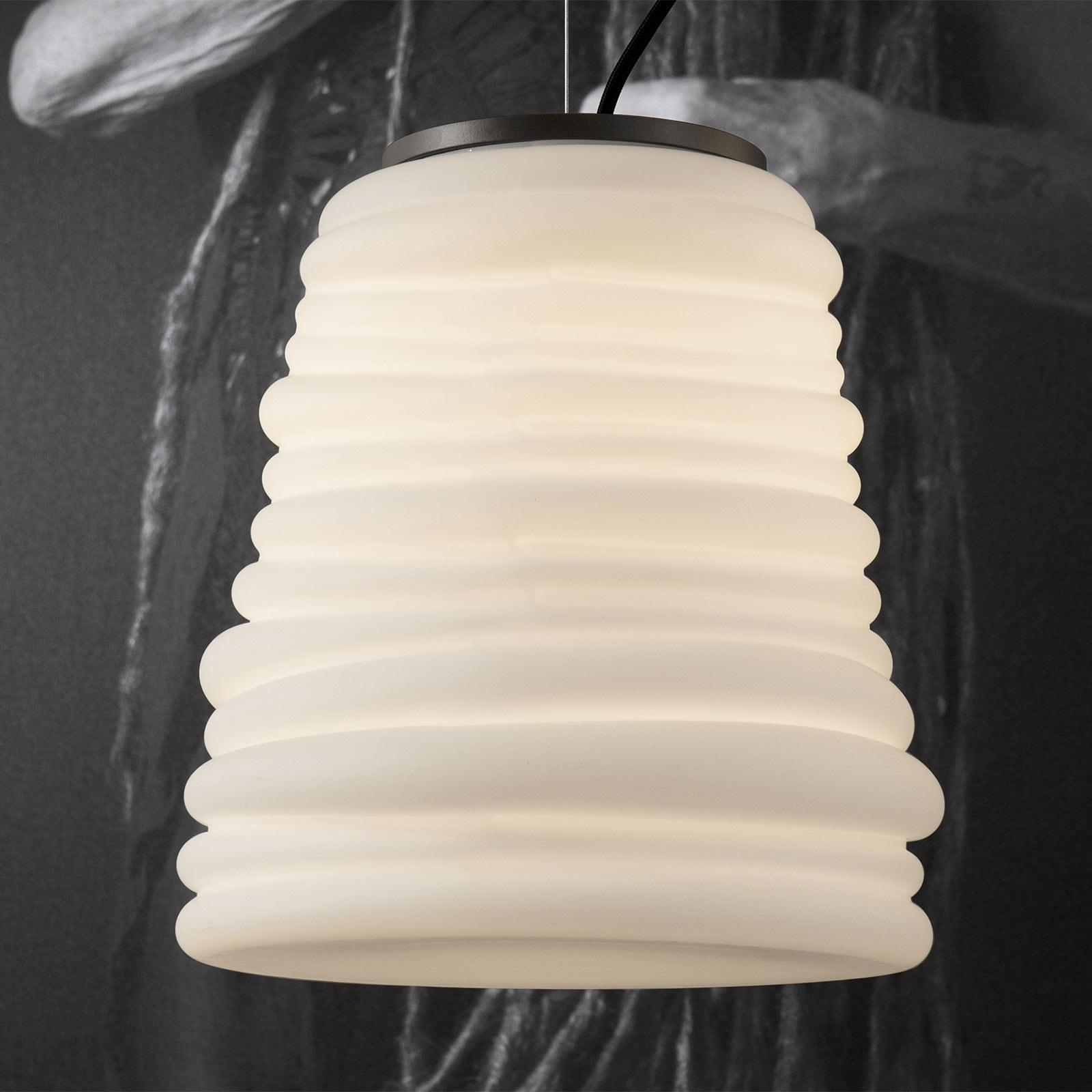 Karman Bibendum suspension LED, Ø 30cm, blanche
