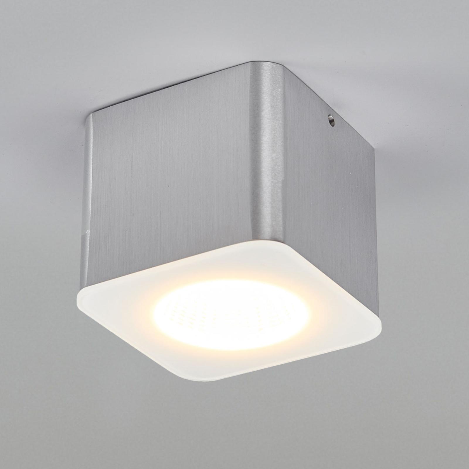 Helestra Oso LED ceiling spot, angular, matt alu_4516445_1