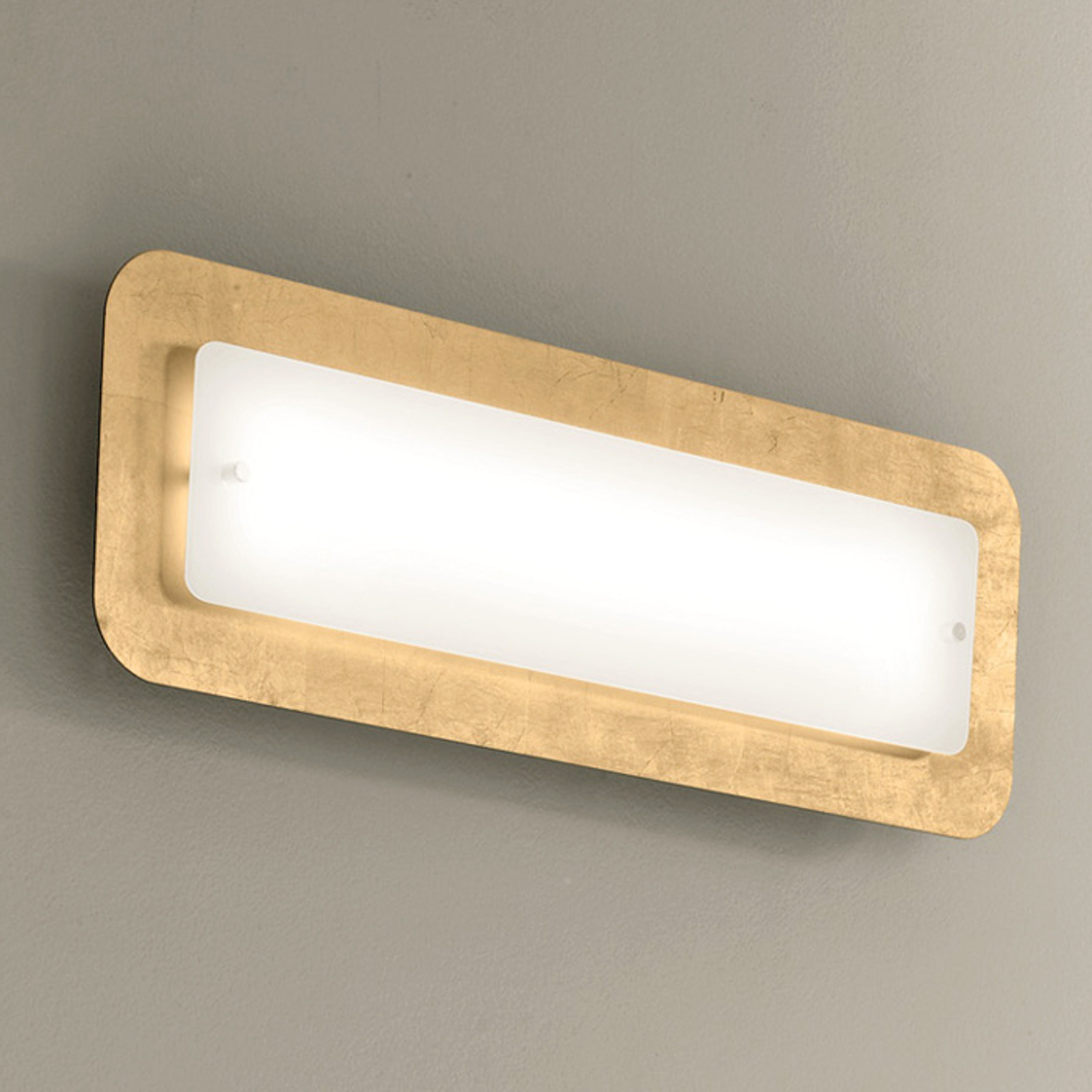 Vegglampe PopUp med bladgull ramme