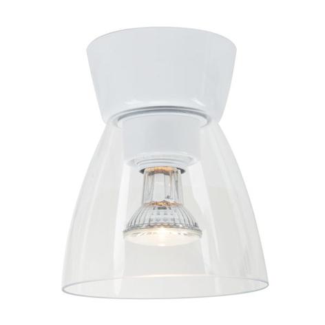 LED stropní světlo Bizzo baldachýn bílé čiré sklo