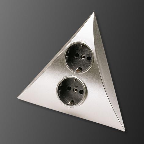 Prese combinate Luxor acciaio 2 prese