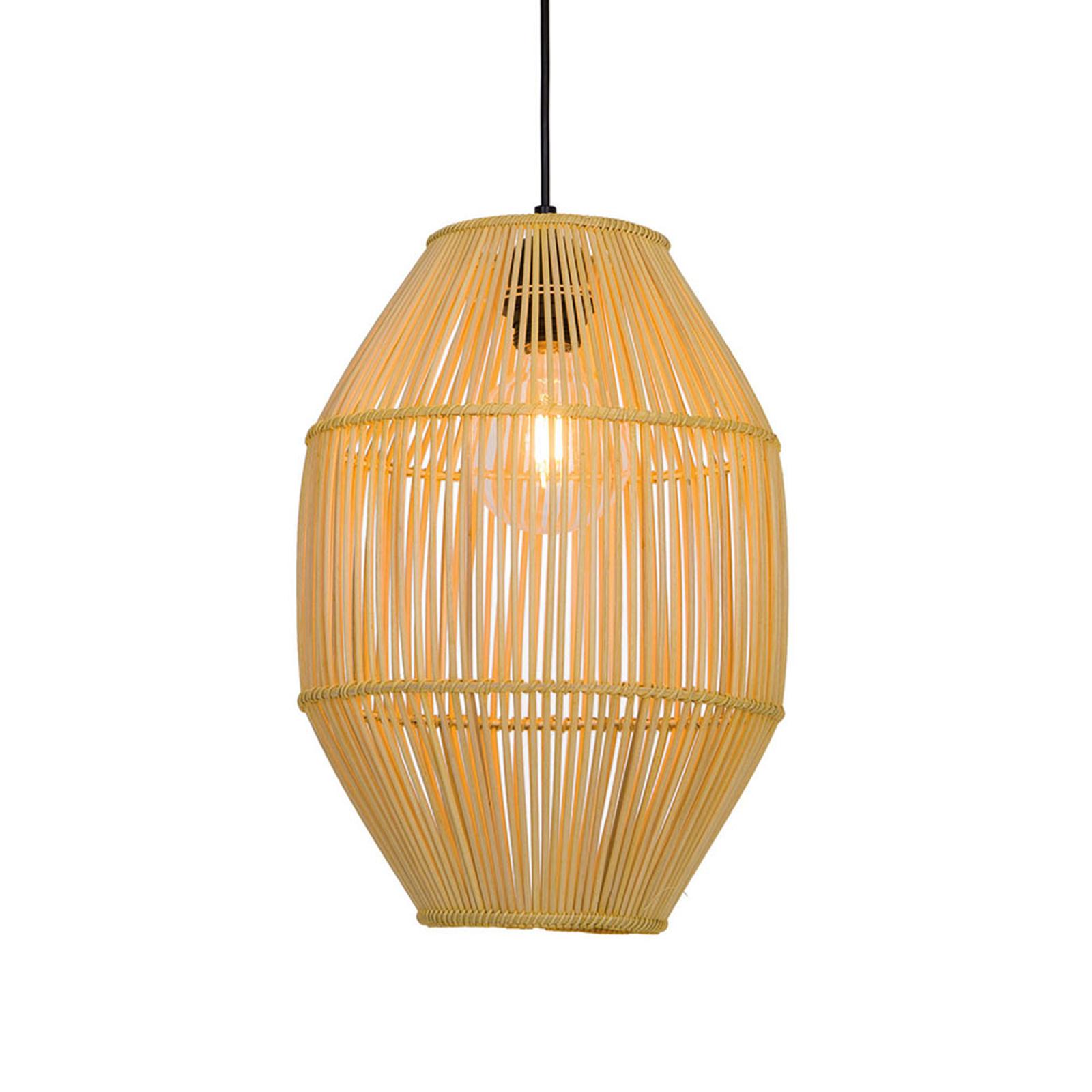 Hanglamp Anteo van rotan, hoog Oval