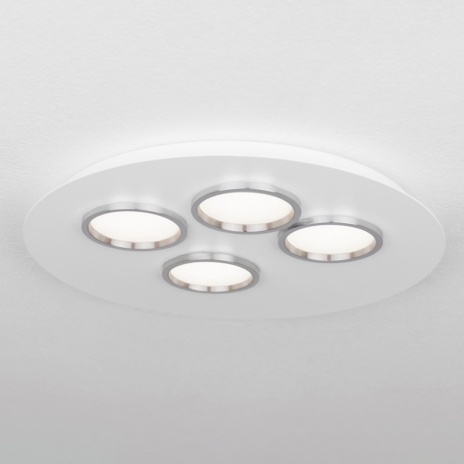 Okrągła lampa sufitowa LED Brac z czterema LED