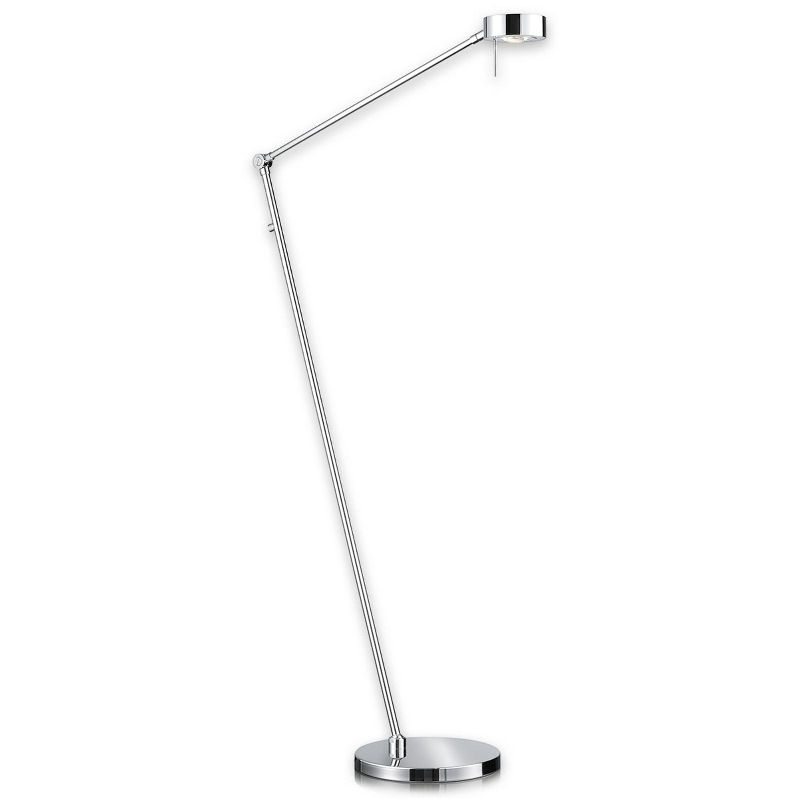 LED-vloerlamp Elegance, 3-scharnieren, chroom