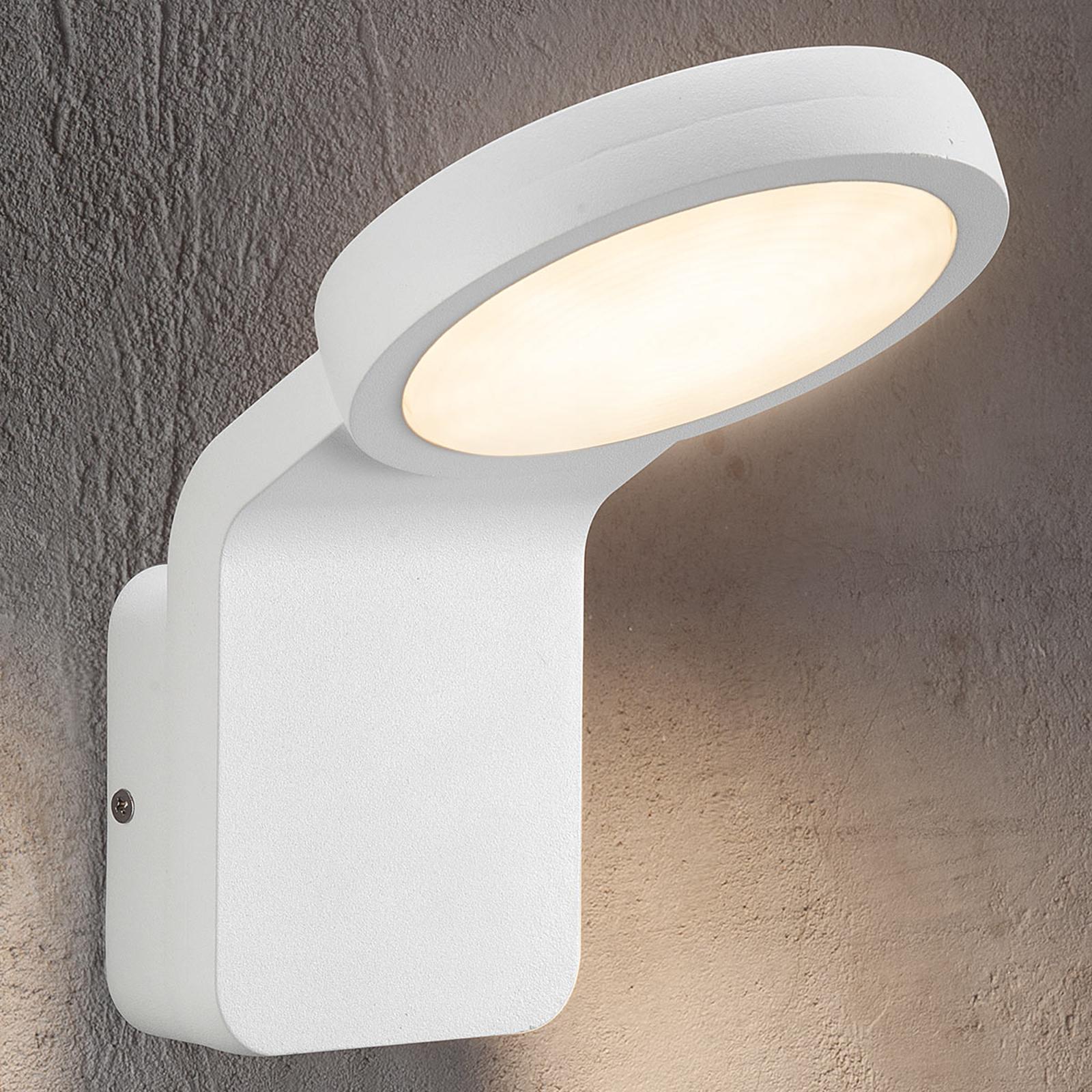 Effektiv utendørs LED-vegglampe Marina hvit
