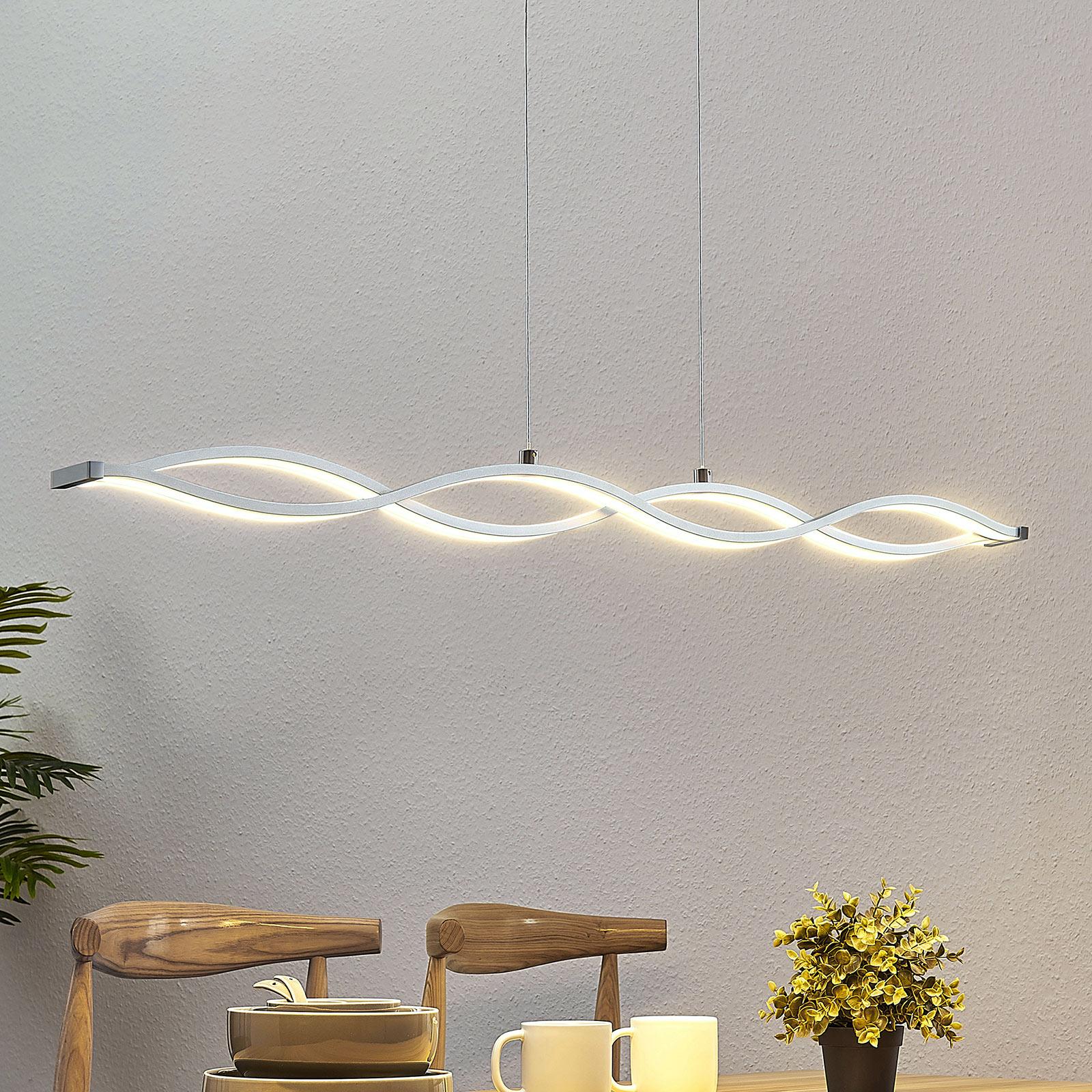 Lampada a sospensione LED Roan, ondulata