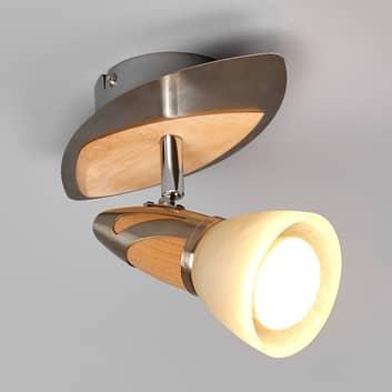 Spot Marena mit Holzapplikationen, E14 R50 LED