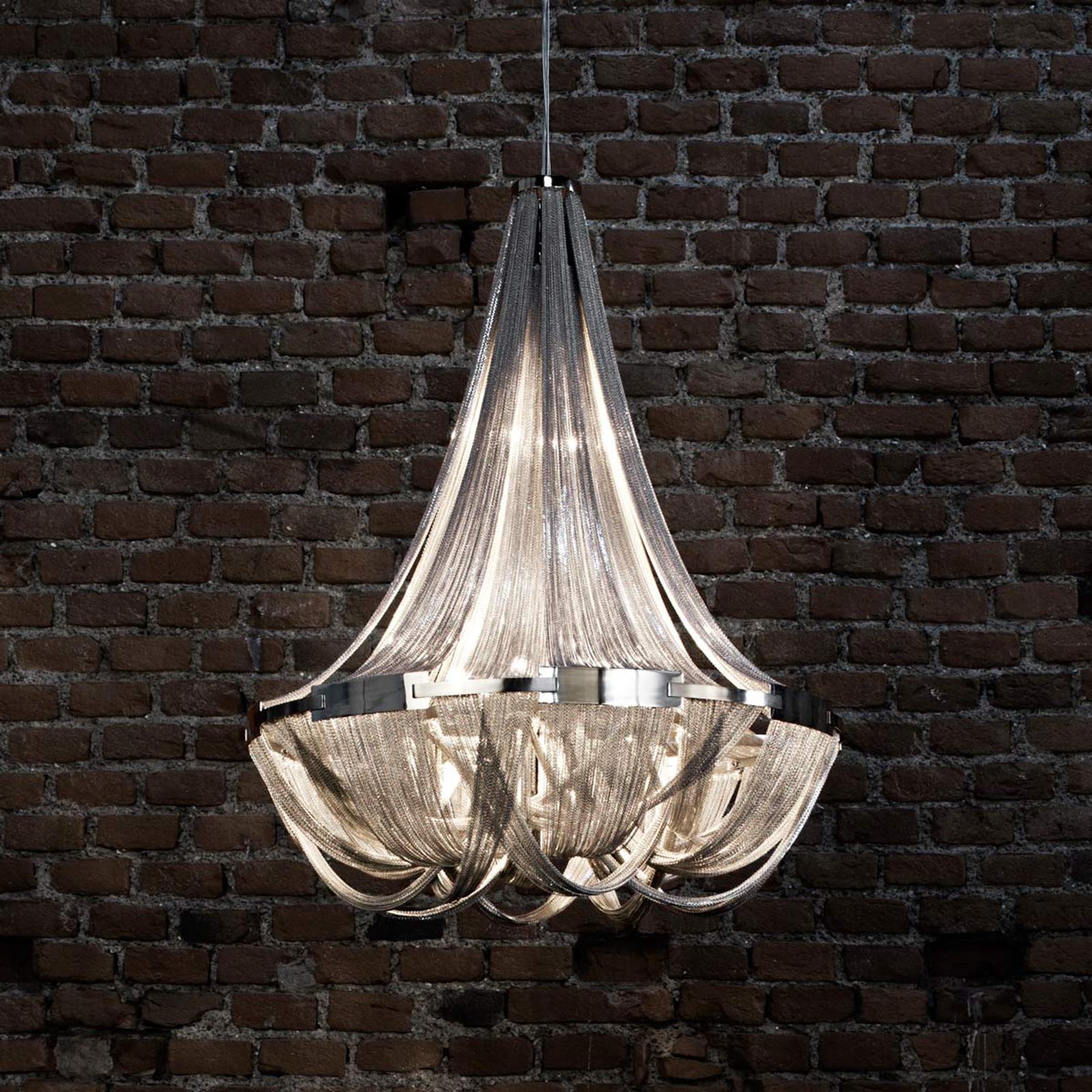 Opulent designerpendellampe Soscik, 72 cm