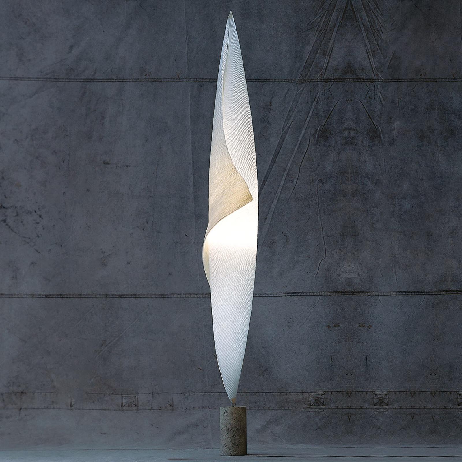 Cocon-achtige vloerlamp Wo-Tum-Bu 1 met dimmer