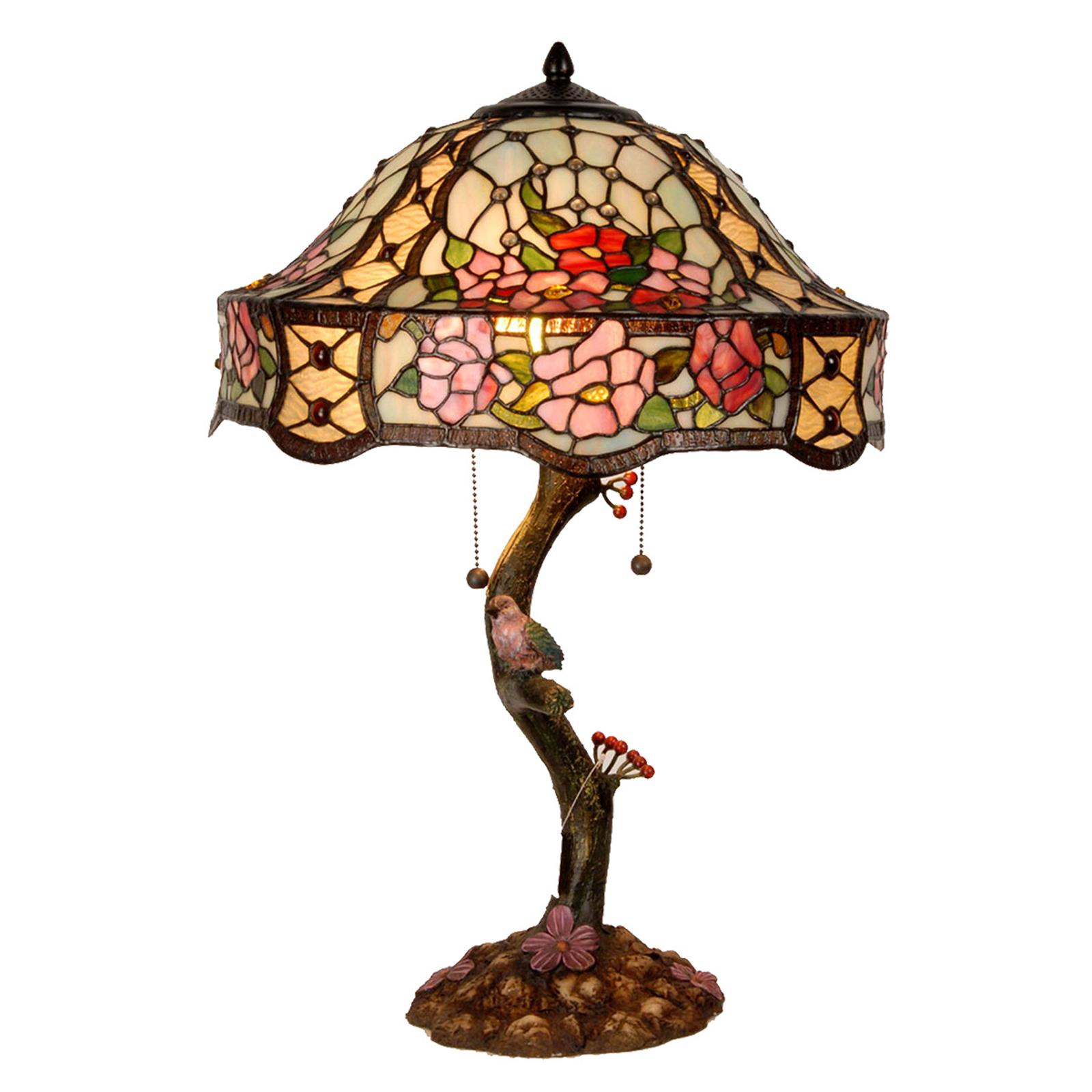 Rijkelijk versierde tafellamp Claire